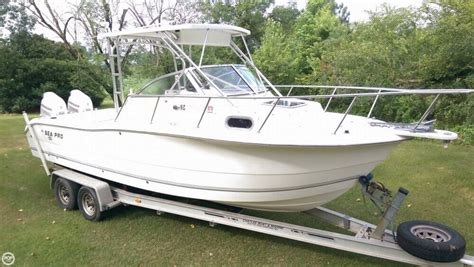 sea pro walkaround boats for sale 2005 used sea pro 255 wa walkaround fishing boat for sale