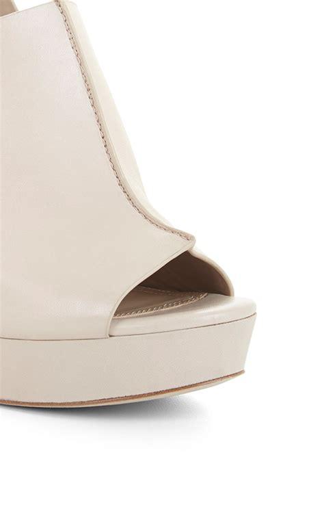 Dunes Perfume Peep Toe Heel by Dune High Heel Leather Peep Toe Sandal