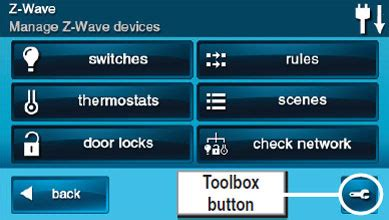 how to enable z wave on the 2gig go control panel