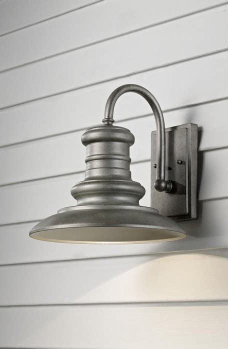 redding station collection 1 light 12 quot tarnished outdoor