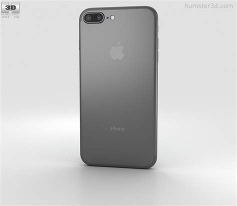apple iphone 7 plus black 3d model hum3d