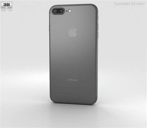 apple iphone 7 plus black 3d model electronics on hum3d