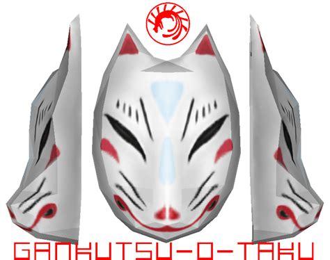 Kitsune Mask Papercraft - hatsune miku kitsune mask by gankutsu o taku on deviantart