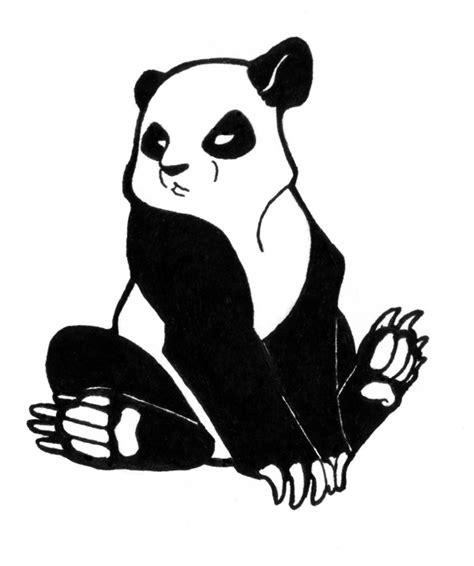 panda tattoo cartoon angry panda sketch