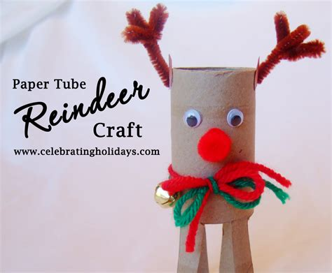 reindeer paper crafts crafts celebrating holidays