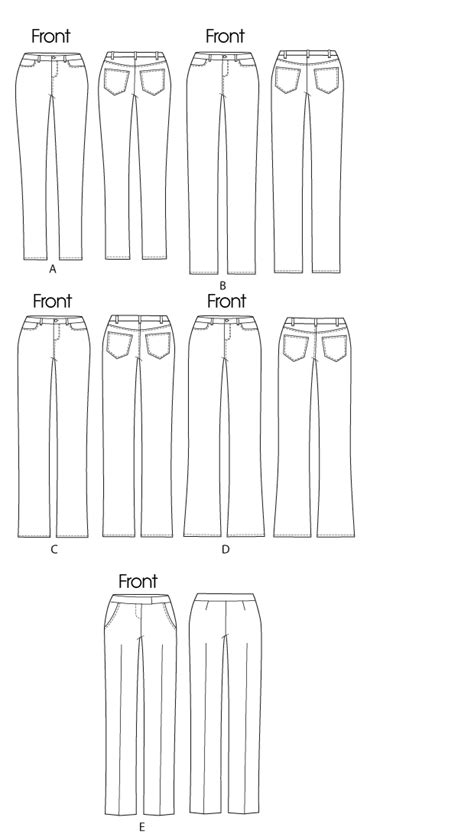 jeans pattern maker butterick 5682 misses jeans and trousers