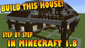 House step by step tutorial how to build a house in minecraft 1 8