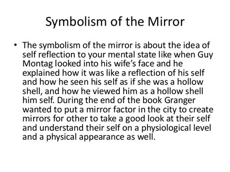 The Mirror And The L by Fahrenheit 451 Symbolism Project