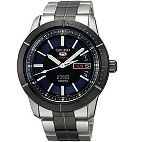 seiko srp343 mens stainless steel and bracelet automatic blue tone day and date