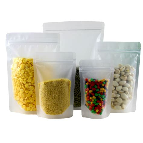 Kantong Plastik Packaging Standing Pouch Zip Lock Frosted Food Grade frosted clear plastic zip lock packing bag stand up pouch resealable doypack zipper food coffee