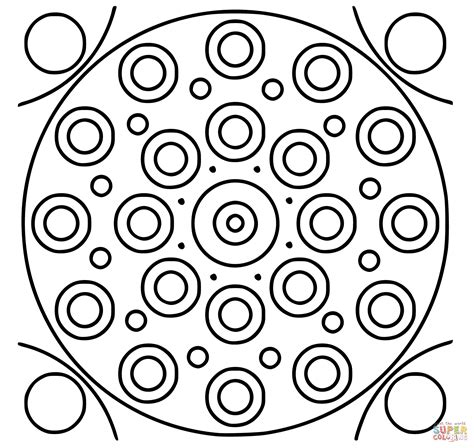 circle mandala coloring page free printable coloring pages
