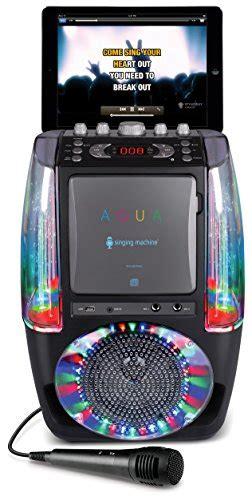 singing machine bluetooth karaoke system with disco lights singing machine sml605bk agua dancing water fountain