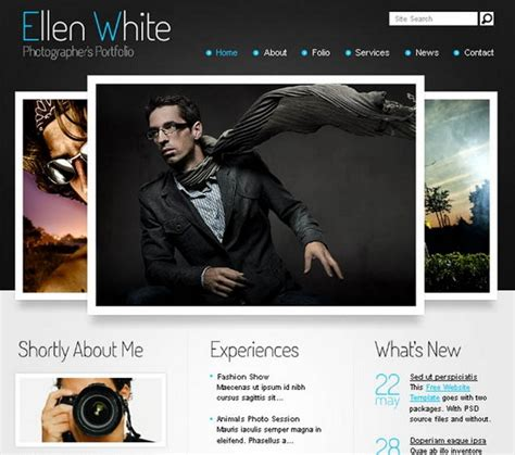 portfolio site templates 24 free and premium portfolio website templates ginva