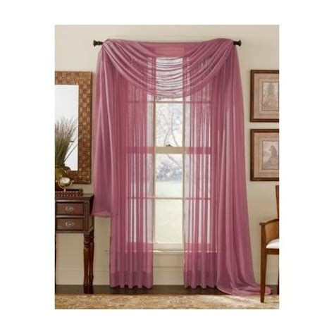 dusty rose curtains com 84 quot long sheer curtain panel dusty rose