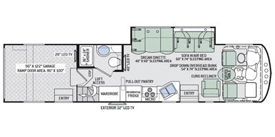 thor hauler floor plans units available for 2016 thor motor coach outlaw 37ls thor rv source