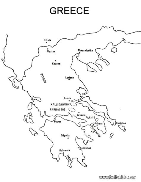 Greek Cities Coloring Pages Hellokids Com Ancient Greece Coloring Pages