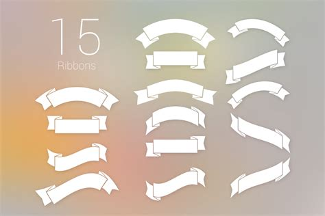 ribbon vector tutorial photoshop curled and folded vintage ribbon banners set psd download