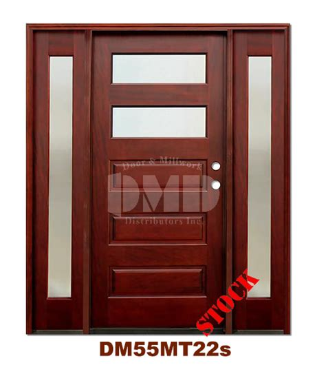 Mahogany Exterior Doors Wholesale Dm55mt22s 2 Lite Contemporary Mist Glass Exterior Wood Mahogany Door Door And Millwork