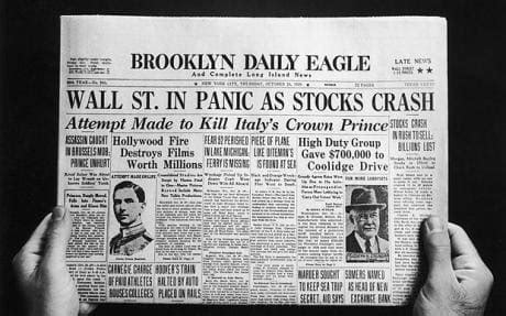 oct 24, 1929: wall st crash telegraph
