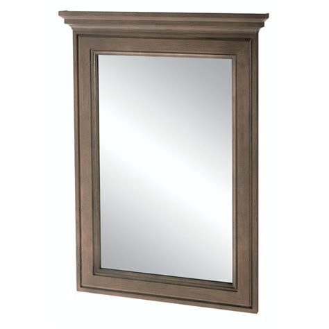 home decorators mirror home decorators collection albright 34 in l x 25 in w framed vanity wall mirror in winter gray