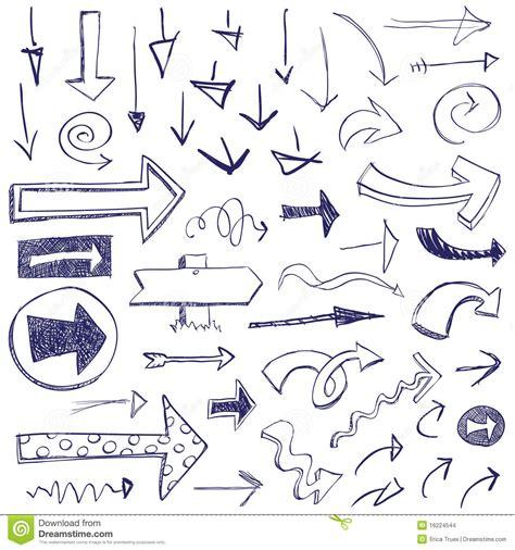 arrow doodle free vector doodle arrows stock vector image of left icon doodle