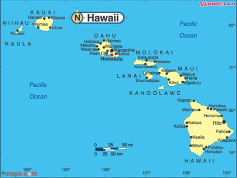 map of hawaii islands maps of oahu