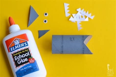 How To Make A Shark Out Of Paper - shark toilet paper roll craft