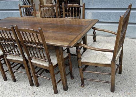 Rustic Oak Kitchen Table Oak Rustic Refectory Table Kitchen Diner Tables