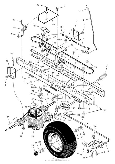 murray lawn tractor parts diagram murray 405606x50a lawn tractor 2005 parts diagram for
