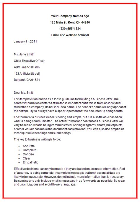 business letter formats docs