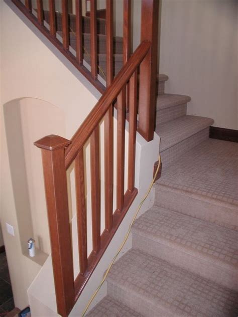 stair rails mission stair rail wood stairs stair railings stair