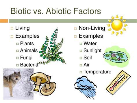 exle of biotic factors ecosystem unit