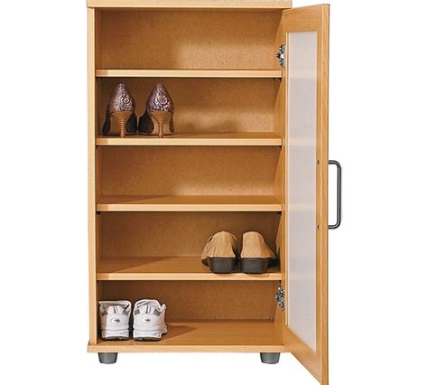 argos shoe cupboard storage buy home contemporary shoe storage cabinet beech effect