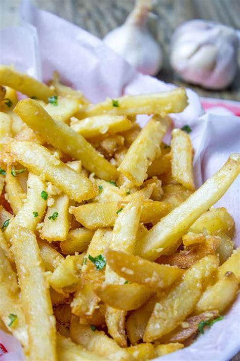 loaded garlic fries easy oven baked dinner  dessert