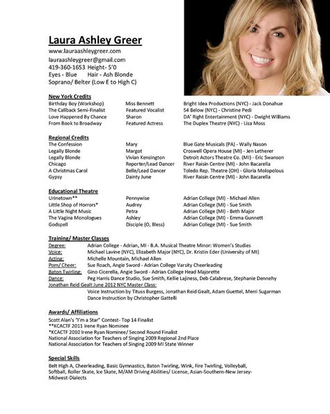 Singer Resume Template free opera singer resume template droidfilecloud