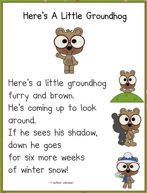 groundhog day kindergarten it s groundhog day 16 free ideas poem ground