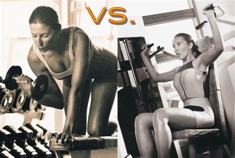 free weights vs machines eyezon fitness