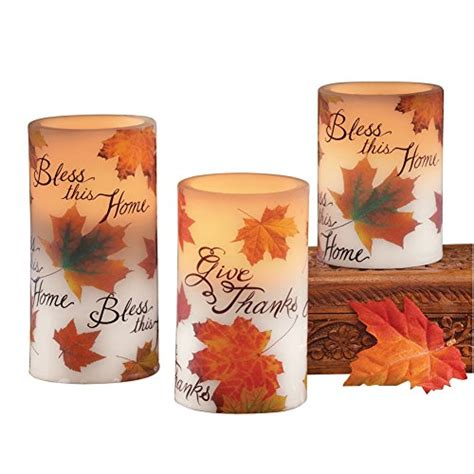 bless candles led bless this home fall candle set candlesme candlesme
