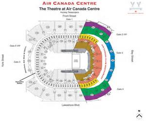 map of air canada centre seating map the air canada centre