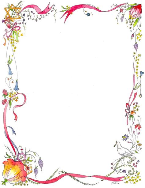 Flower Design Page Borders | page border designs wordpress templates blogger new