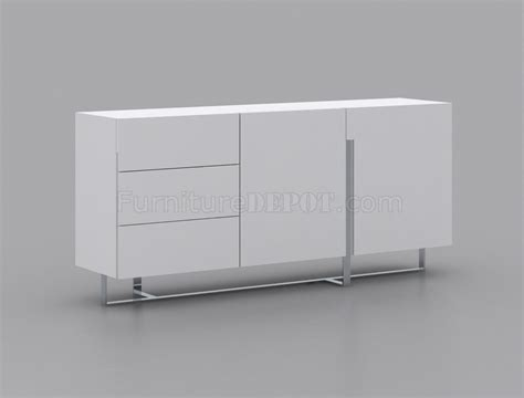 White Gloss Buffet Collins Buffet In High Gloss White Lacquer By Casabianca