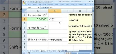excel format x after number how to format numbers to display exponents in microsoft