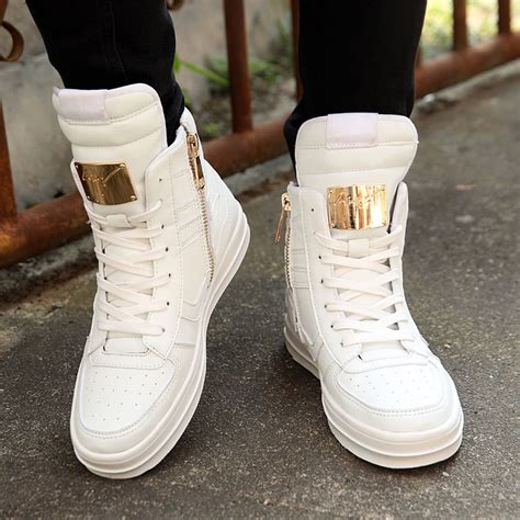mens high top fashion sneakers fashion s high top sneakers ankle boots lace up