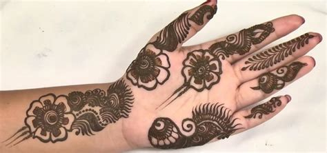 how to do flower henna design in just 20 mins 171 henna