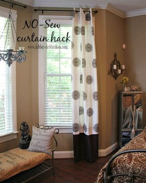lengthen curtains without sewing can t sew no worries sew sewing and no sew