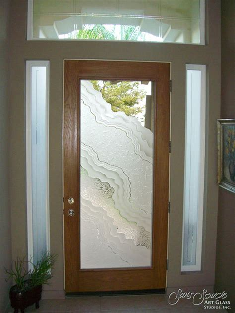Glass Front Doors Glass Entry Doors Sandblast Frosted Glass For Front Door