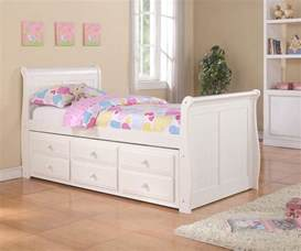 White Trundle Bed by Sleigh Captains Trundle Bed White Bedroom Furniture