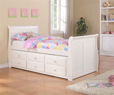 trundle bed for girls sleigh captains trundle bed white bedroom furniture