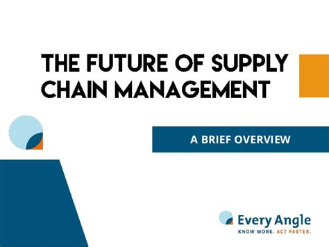Future In Mba Supply Chain Management the future of supply chain management