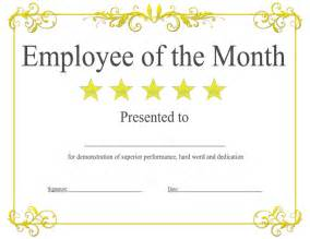 Of The Month Certificate Template by Employee Of The Month Certificate Template Template Design